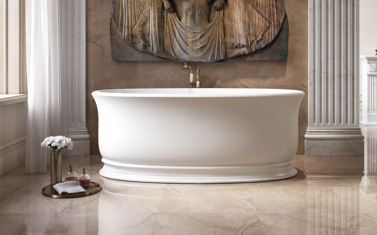 Aquatica Aphrodite-Wht Freestanding Solid Surface Bathtub picture № 0