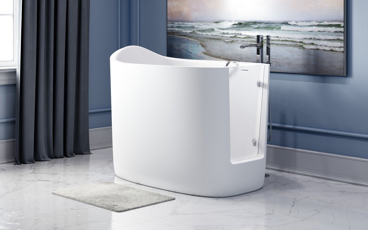 Aquatica Baby Boomer 2 Freestanding Solid Surface Walk-In Bathtub picture № 0