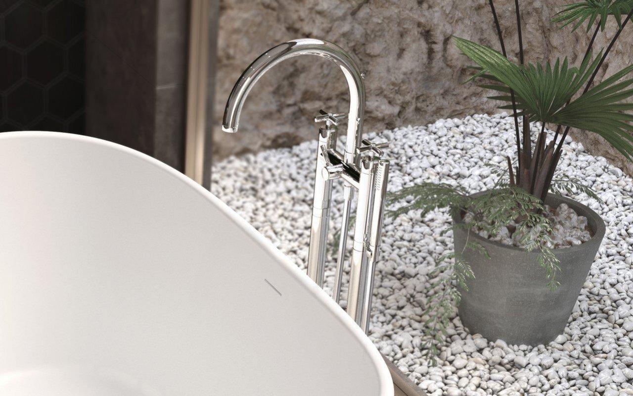 Aquatica Celine Floor Mounted Bath Filler (SKU-108) – Chrome picture № 0
