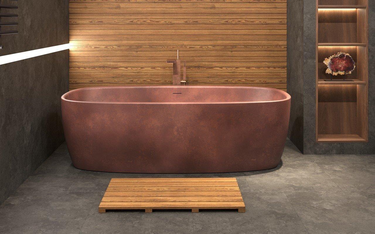 Aquatica Coletta™ Bronze Freestanding Solid Surface Bathtub picture № 0