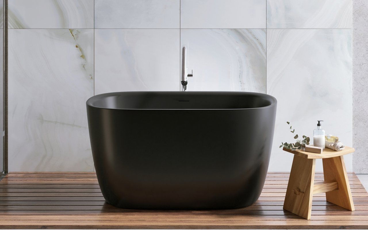 Aquatica Lullaby 2 Graphite Black Freestanding Solid Surface Bathtub picture № 0
