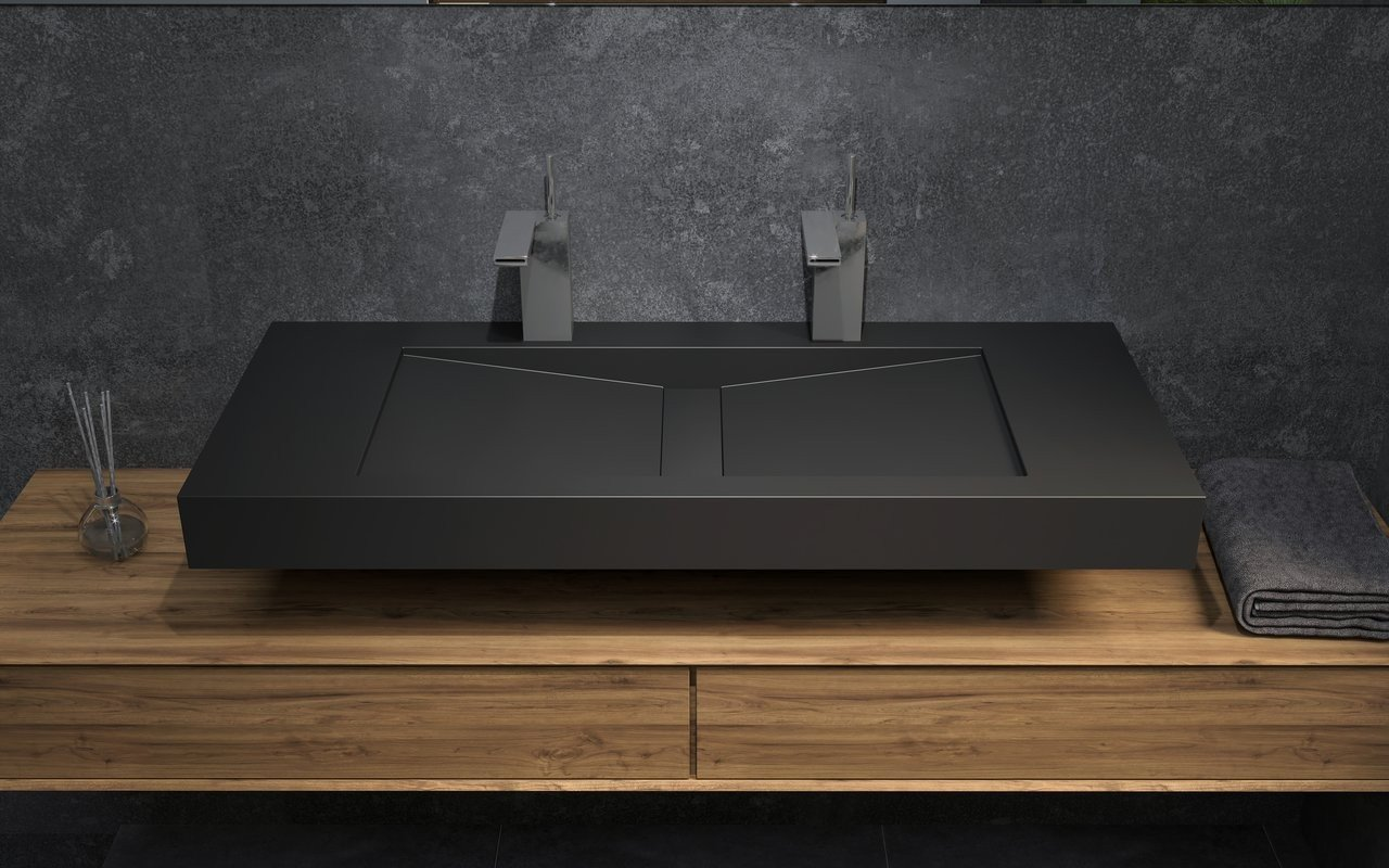 Aquatica Millennium-120-Blck Stone Bathroom Sink picture № 0