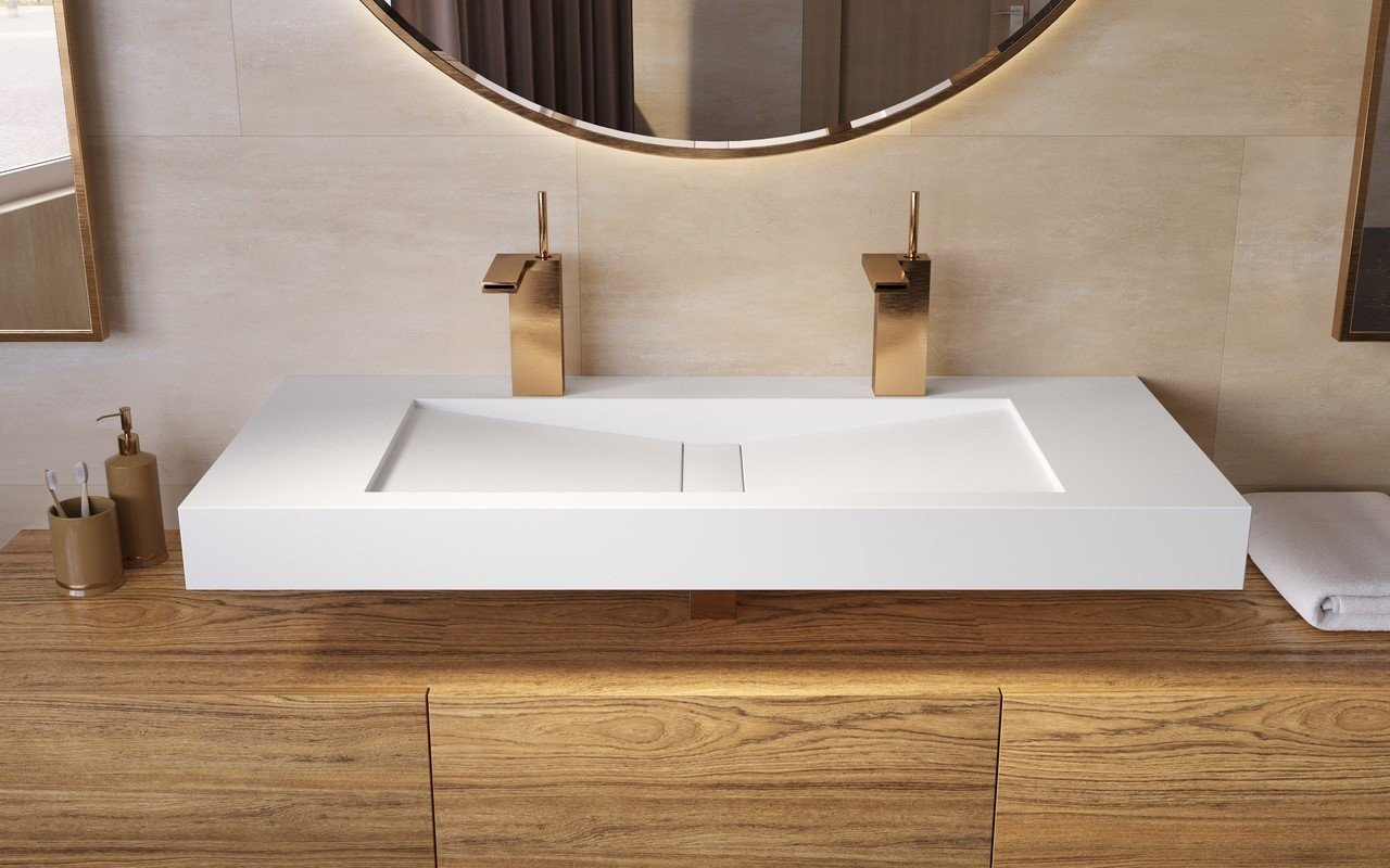 Aquatica Millennium-120-Wht Stone Bathroom Sink picture № 0