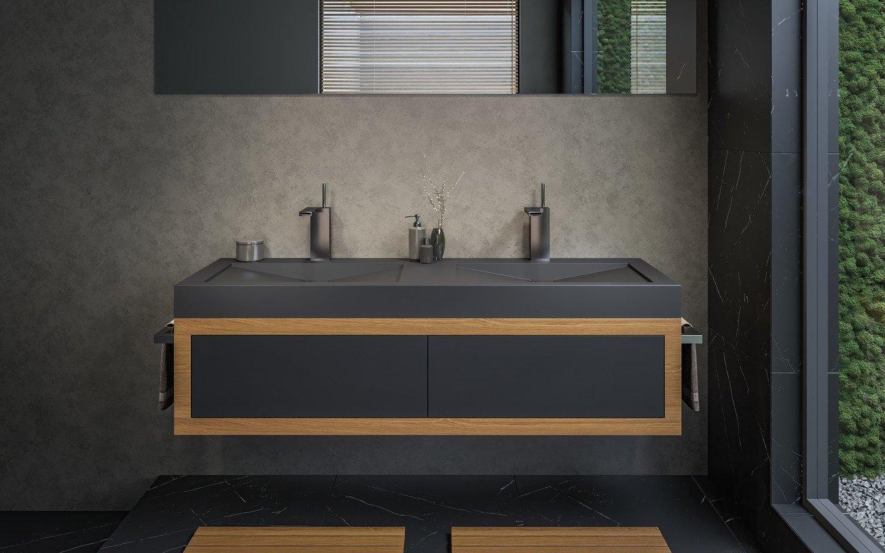 Aquatica Millennium-150-Blck Stone Bathroom Sink picture № 0