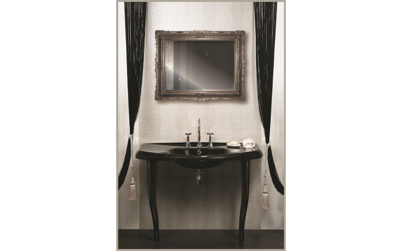 Aquatica Nostalgia Black EcoMarmor Sink with legs web