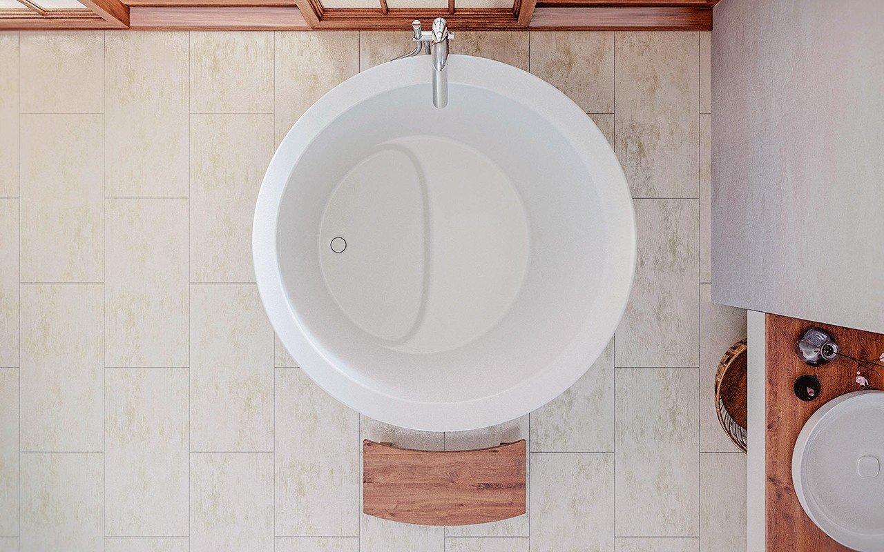 Aquatica true ofuro mini freestanding stone japanese - Mini badewanne ...