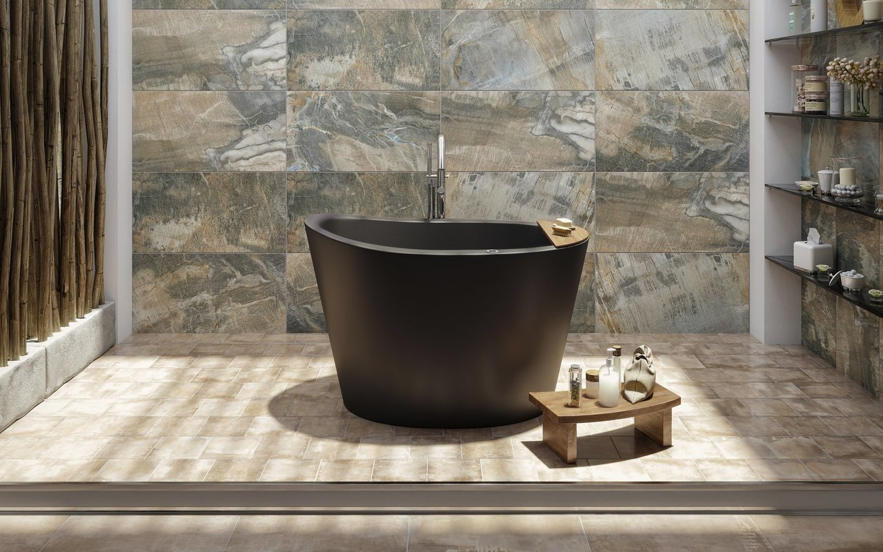 Aquatica True Ofuro Black Tranquility Heated Japanese Bathtub picture № 0