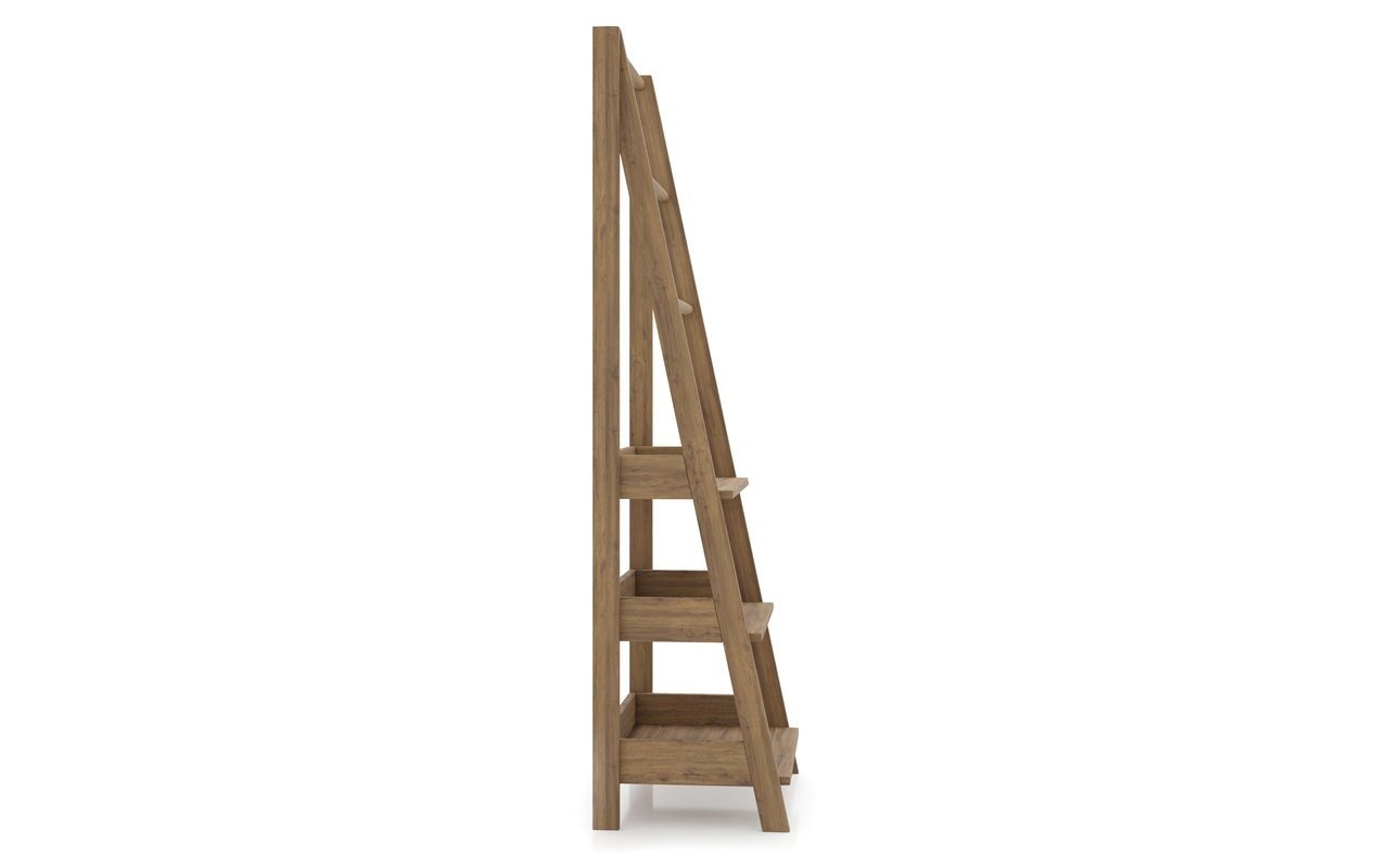 ᐈluxury Aquatica Universal 70 75 Waterproof Teak Wood Bathroom Ladder Shelf Best Prices Aquatica