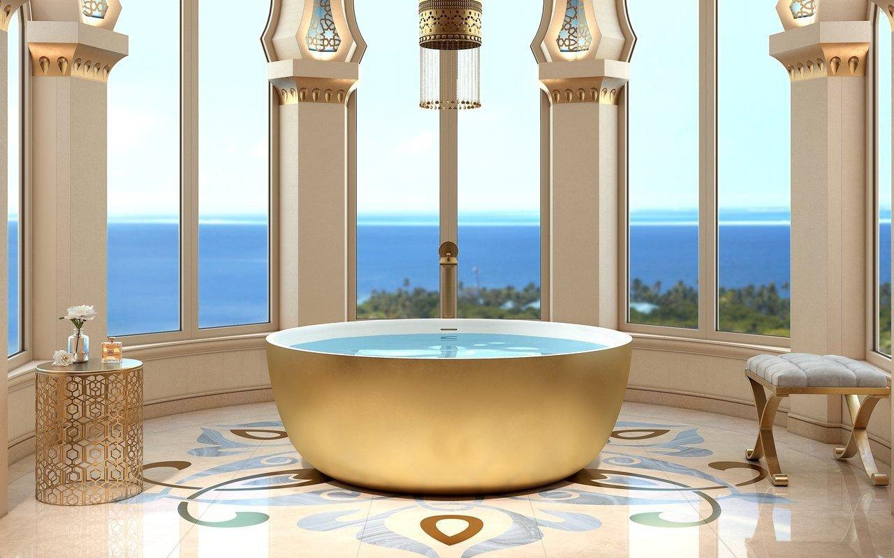 Aquatica adelina yellow gold wht round freestanding solid surface bathtub 01 (web)