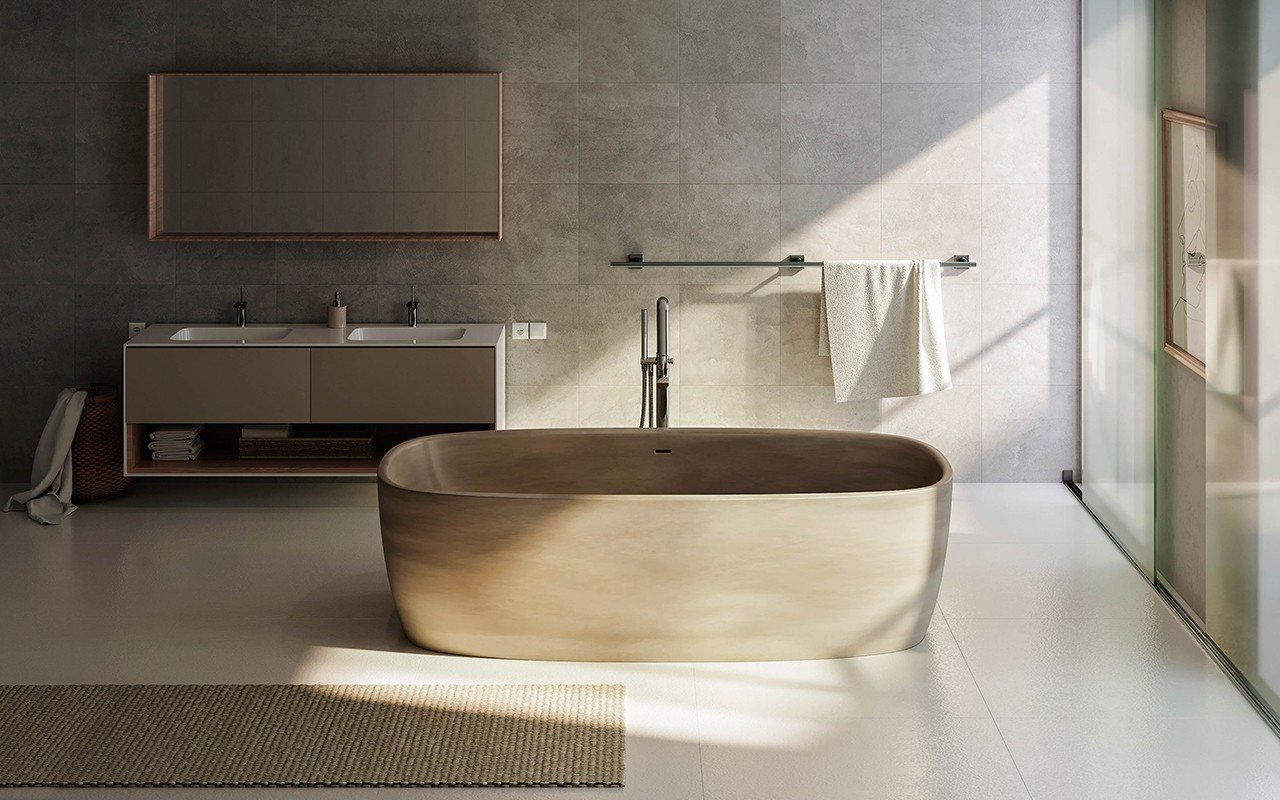 Aquatica coletta concrete freestanding solid surface bathtub web 01
