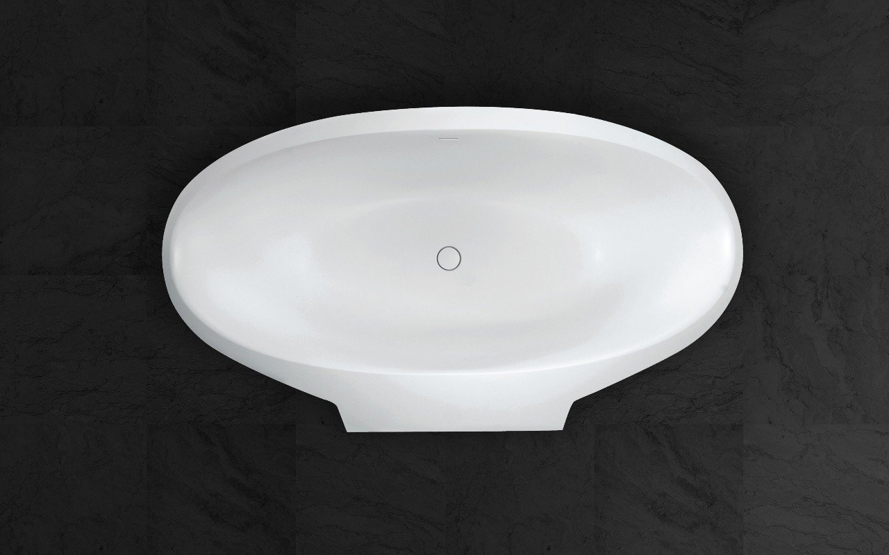 Aquatica sensuality mini wall back to wall solid surface bathtub top web