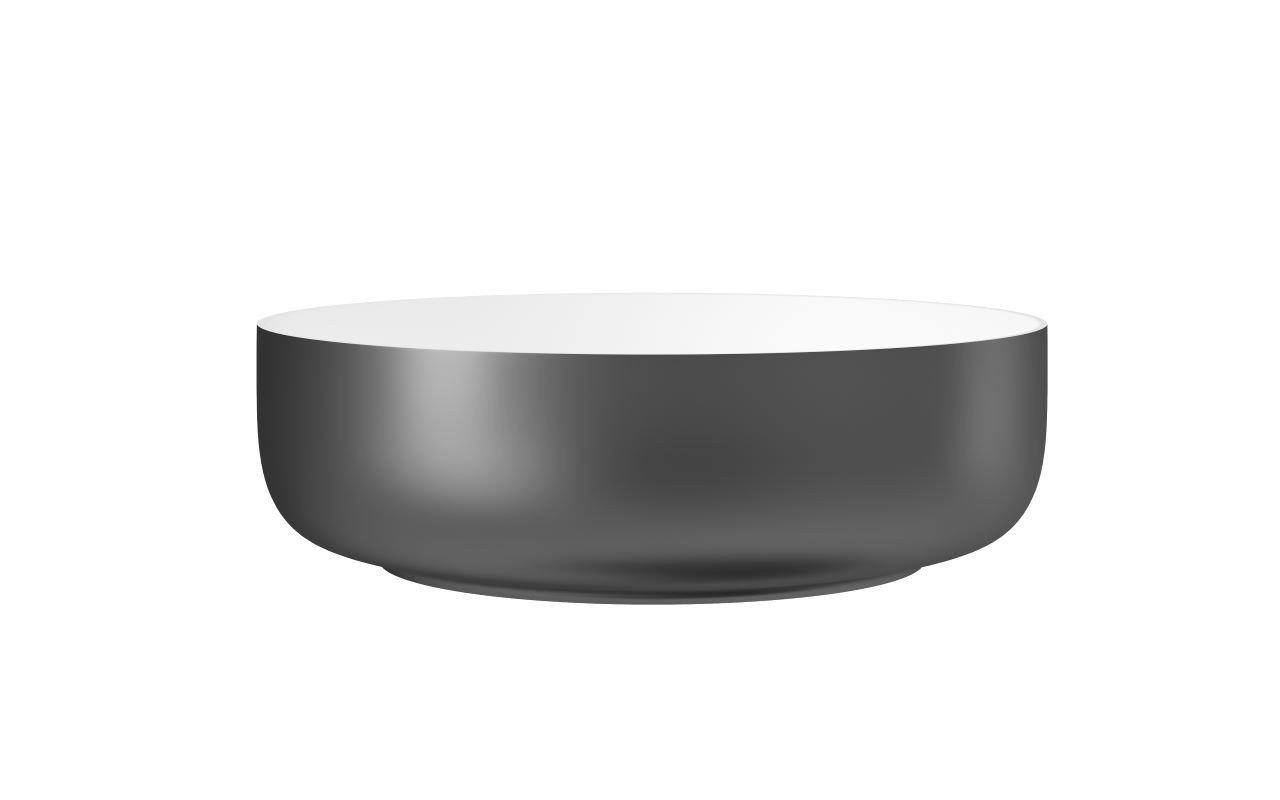 Aquatica Aurora Gunmetal Wht Round Stone Bathroom Vessel Sink02