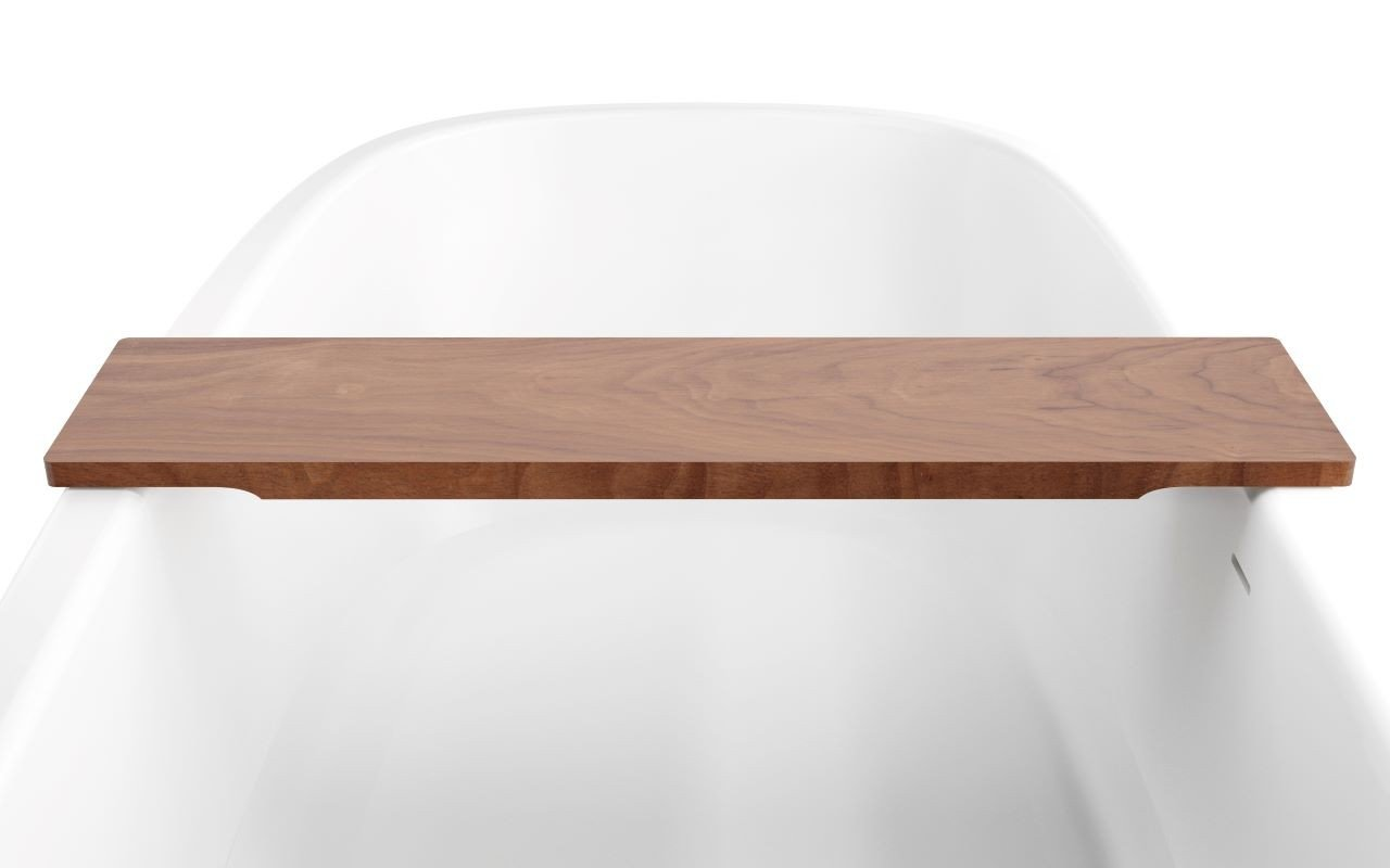Aquatica Universal 36.25 Waterproof American Walnut Wood Bathtub Tray02web