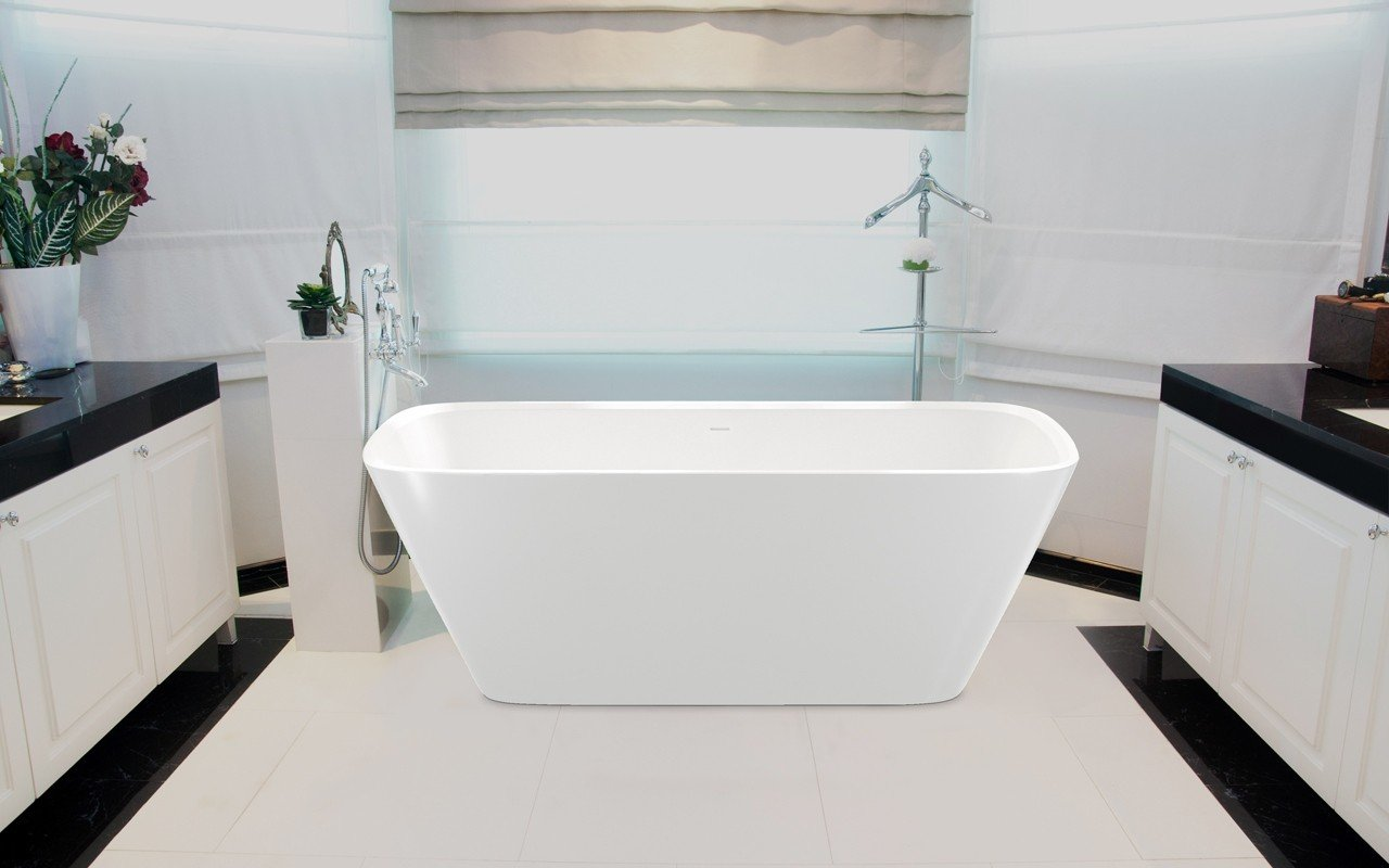 Aquatica Arabella-Wht™ Freestanding Solid Surface Bathtub picture № 0