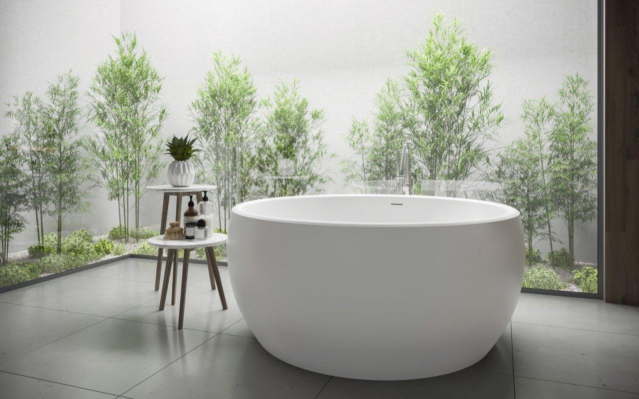 Aquatica Aura Mini Round Freestanding Solid Surface Bathtub picture № 0