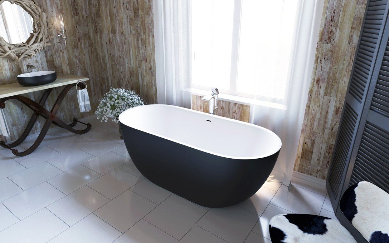 Corelia Black Wht Freestanding Stone Bathtub (2) (web)