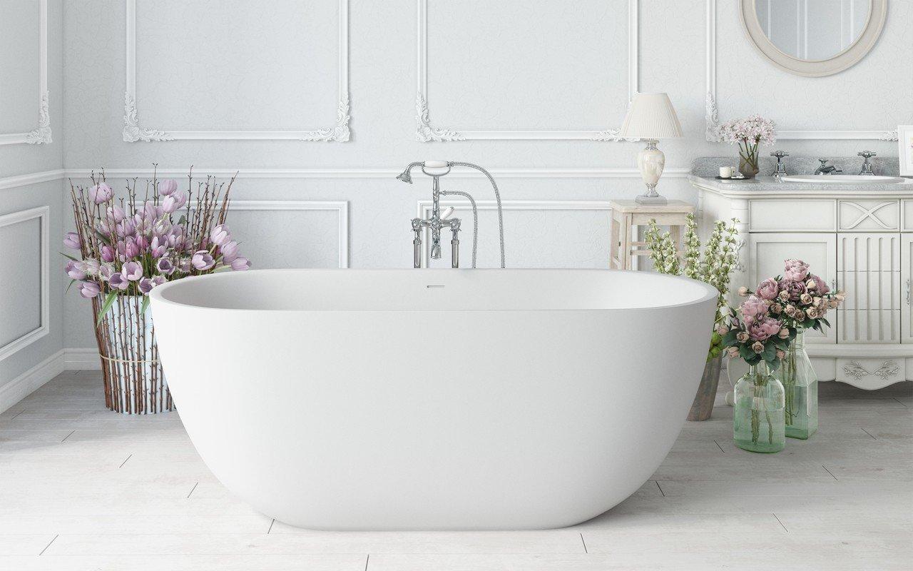 Corelia wht purescape 617bm freestanding solid surface bathtub by Aquatica 01 (web)