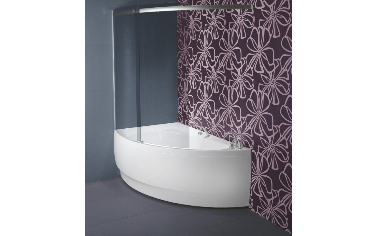 Idea R Tinted Curved Glass Shower Wall K1H2678 1 web
