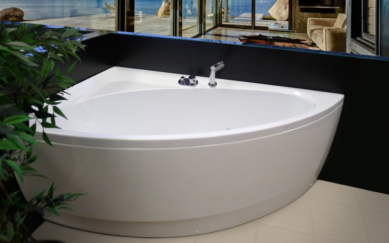 Idea R Wht Corner Acrylic Bathtub 5 web