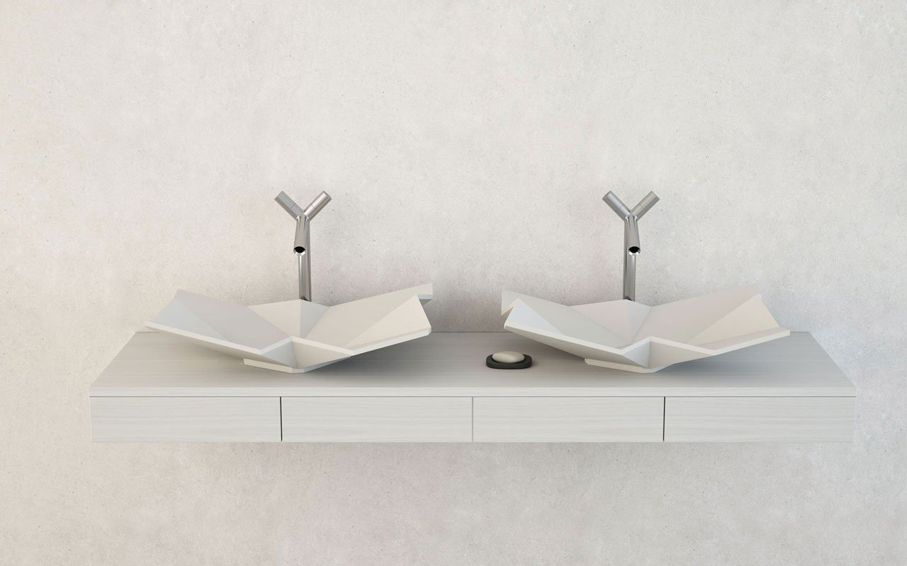 Origami Stone Vessel Sink 01