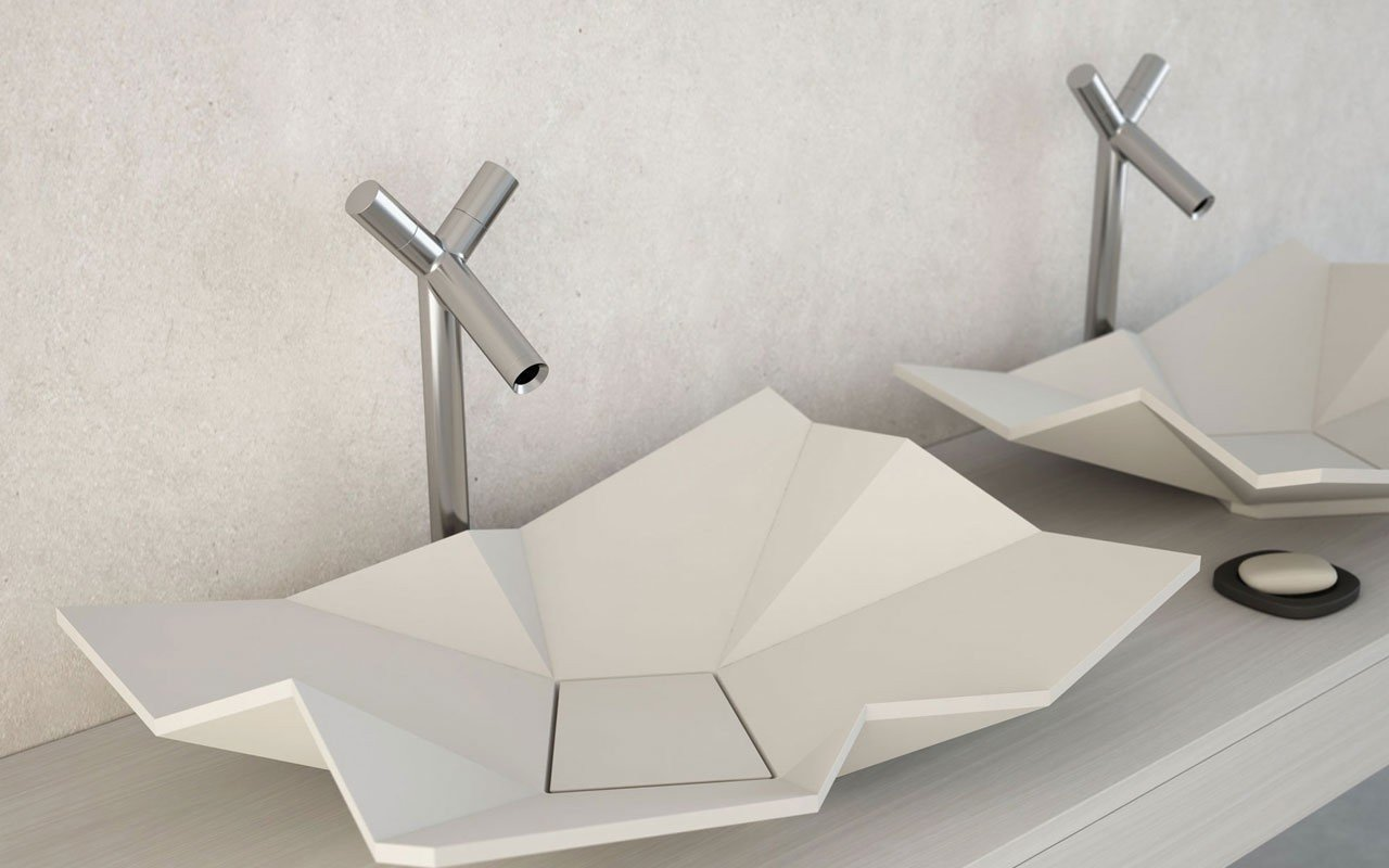 Origami Stone Vessel Sink 02