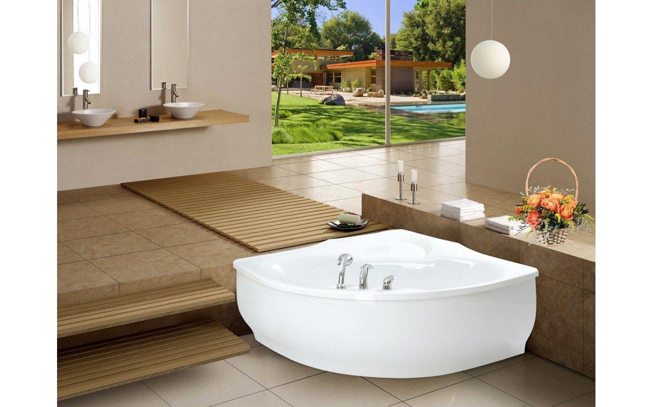 PureScape 314 Corner Acrylic Bathtub by Aquatica web 5