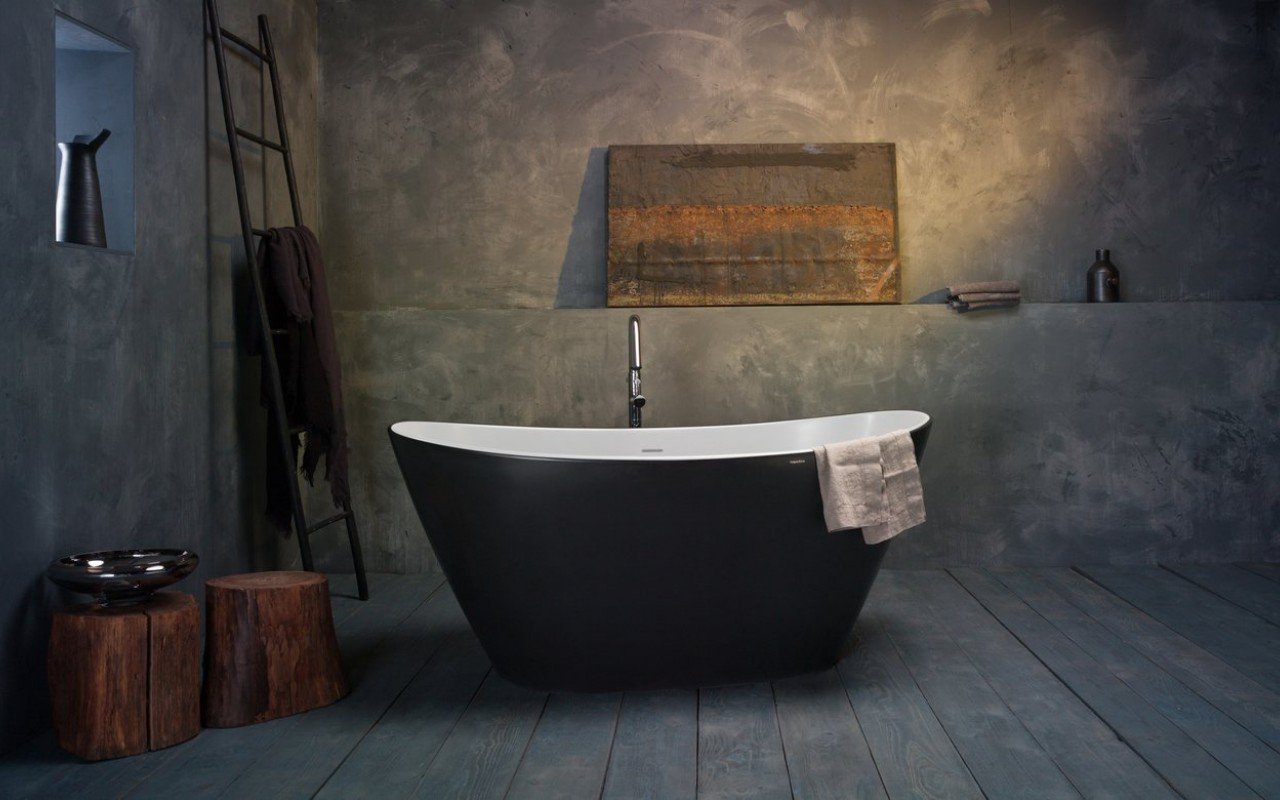 Purescape 748M Blck Wht Solid Surface Bathtub 02 (web)