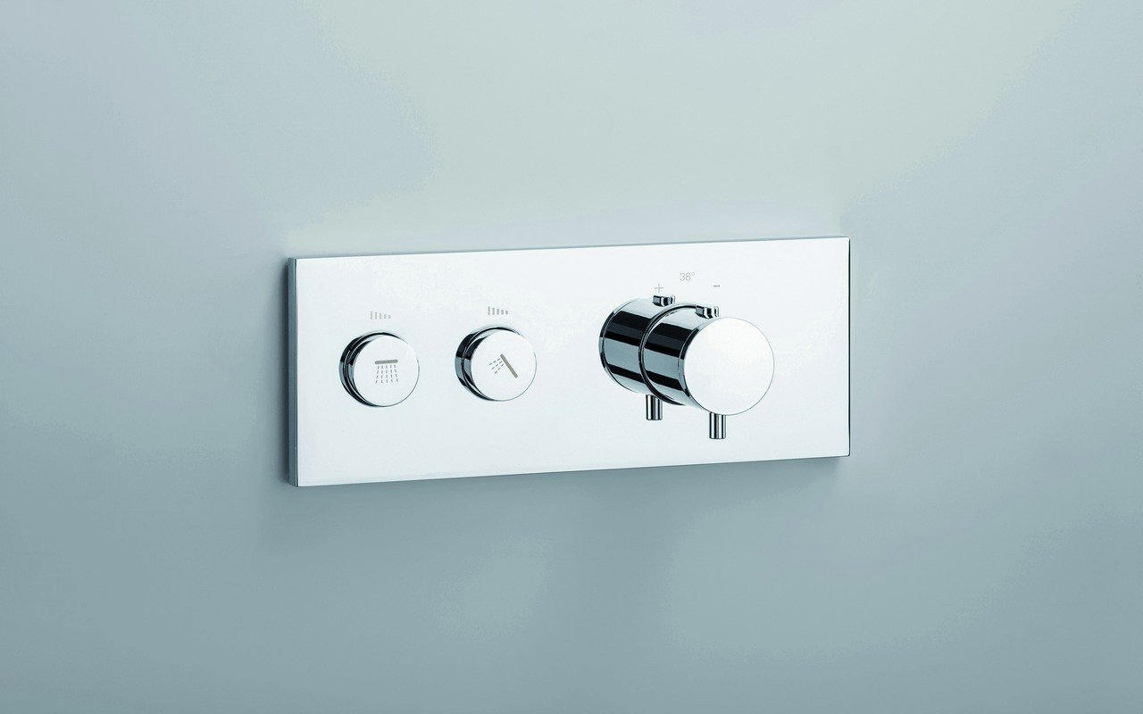 RD 712 H High Throughput Thermostatic Valve with 2 Independent Volume Controls 02