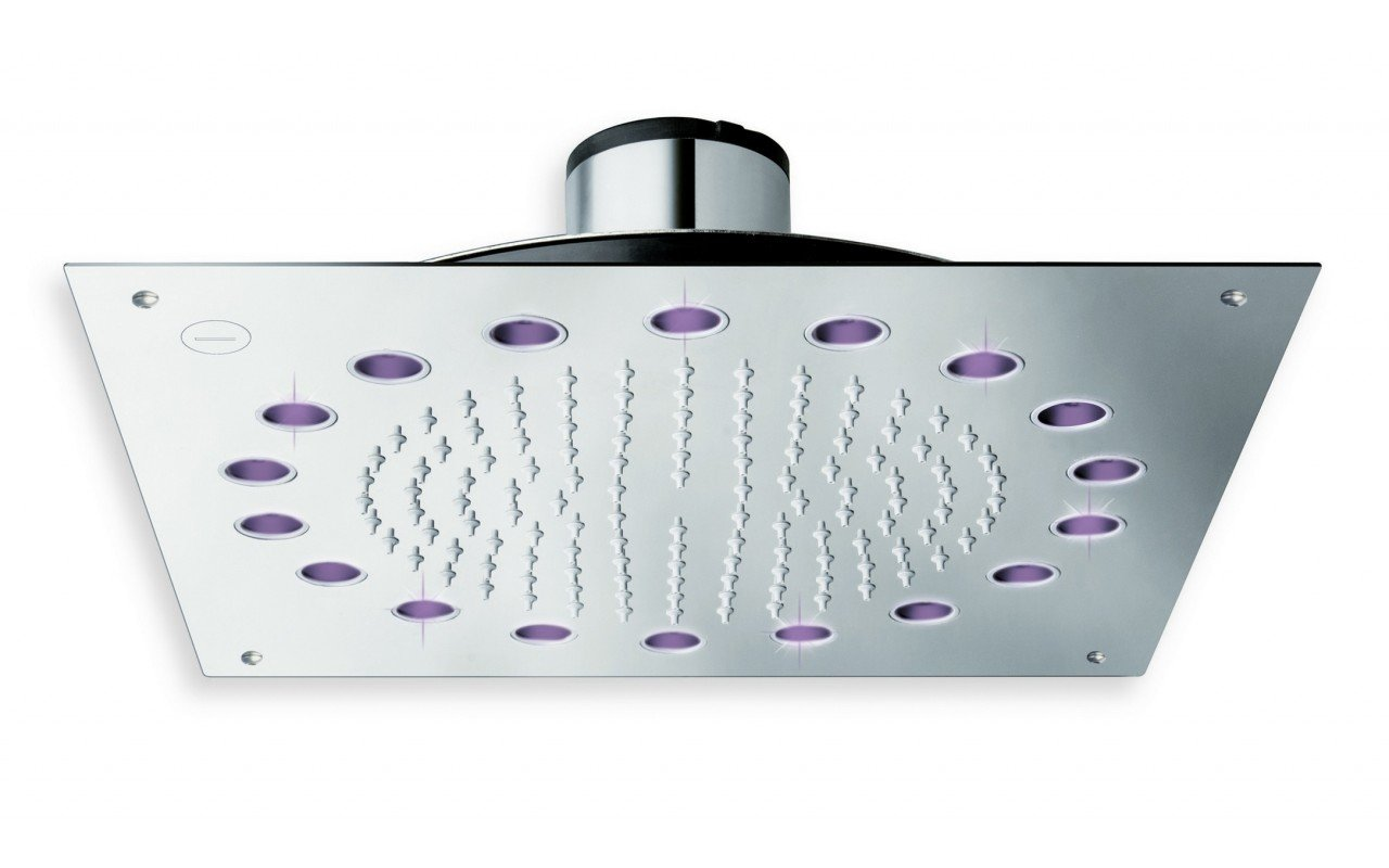 Rainbow Dynamic LED Ceiling Shower Head Chrome 1