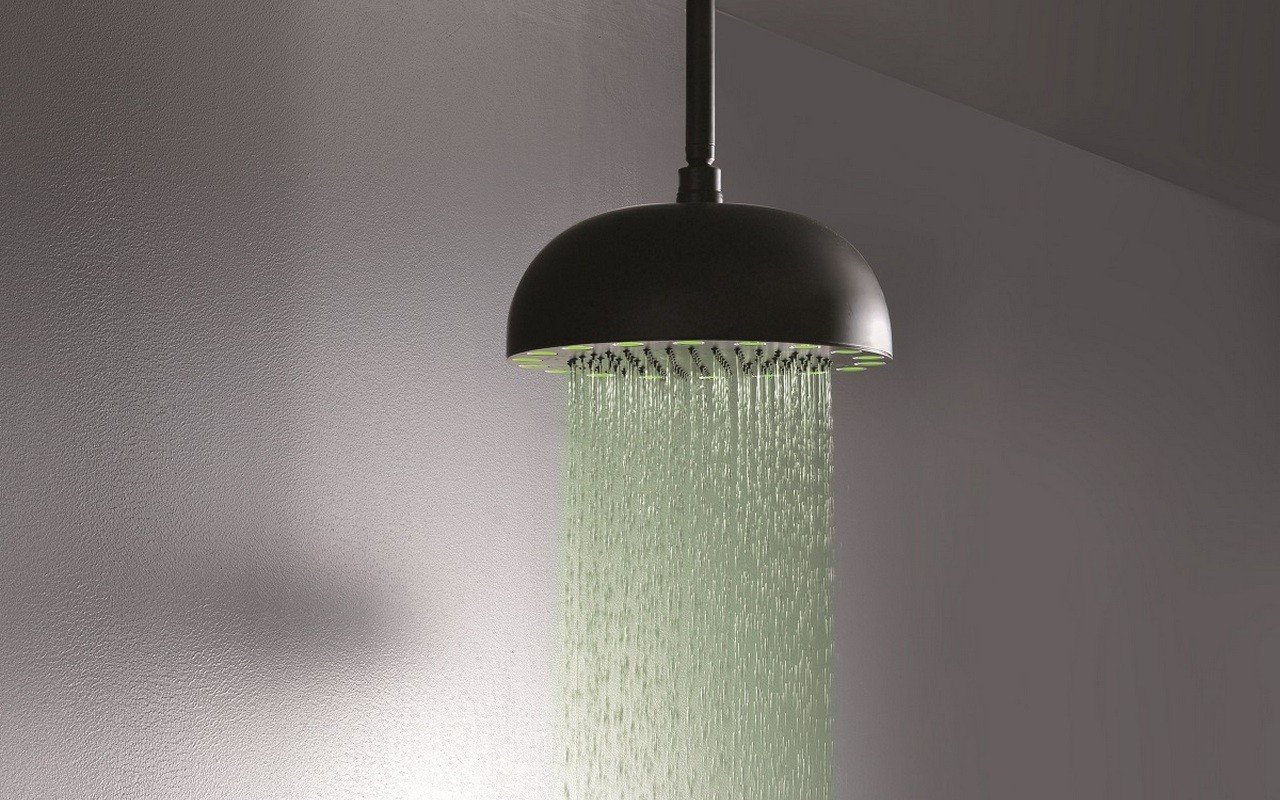 ᐈluxury Dynamo Mcrd 300 Top Mounted Shower Head In Black Matte Best Prices Aquatica