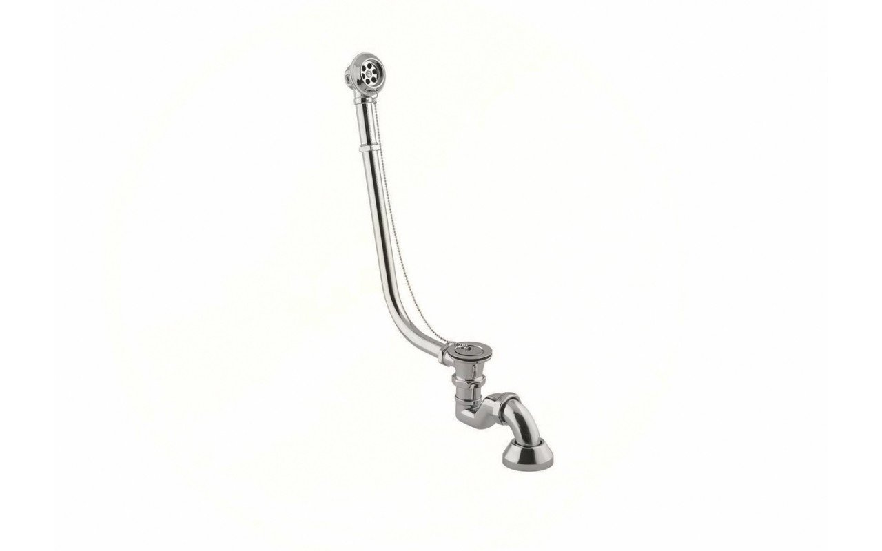 Retro bath waste with plug and chain in brushed nickel int 01 (web)