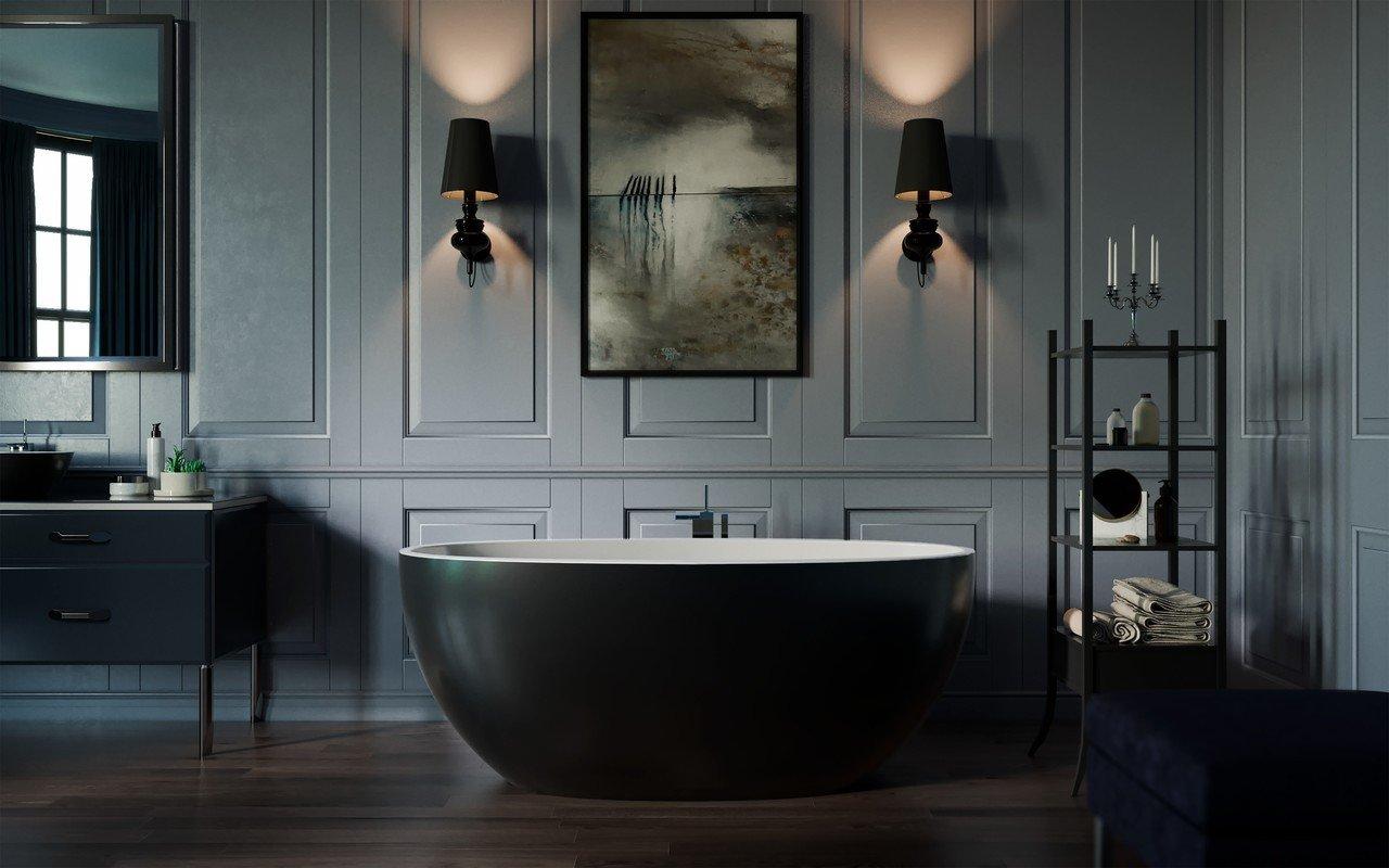 Sensuality mini f black wht freestanding stone bathtub by Aquatica 01 (web)