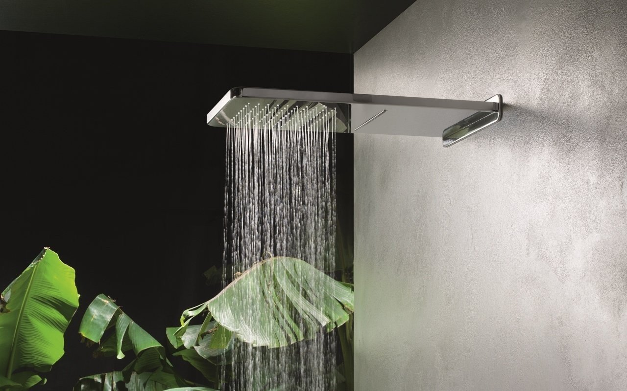 Spring RC-590/310-A Wall-Mounted Shower Head in Chrome picture № 0