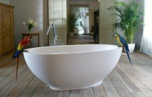 Karolina White Stone Bathtub 1200 1800