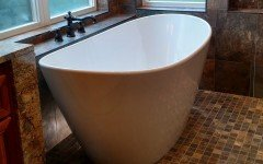 Oregon usa aquatica purescape 748g glossy freestanding ecomarmor bathtub