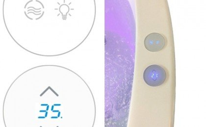 Modern Capacitive Glass Keypad with Hot Tub Like Temperature Adjustment Function 2