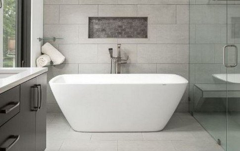 Illinois usa aquatica arabella wht freestanding bathtub