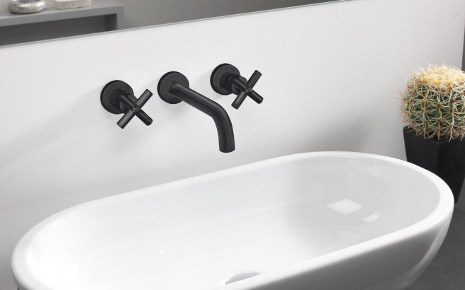 Aquatica Celine 242 Wall Mounted Sink Faucet Black 01 (web)