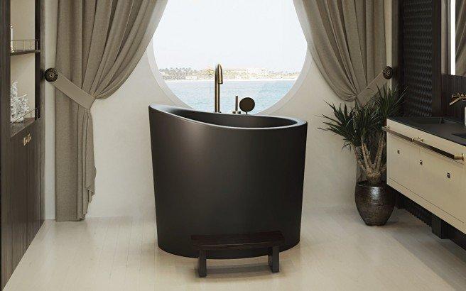 Aquatica True Ofuro Mini Black Freestanding Stone Bathtub 11 (web)