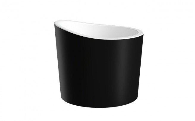 Aquatica True Ofuro Mini Blck Wht Freestanding Stone Japanese Soaking Bathtub 01 (web)