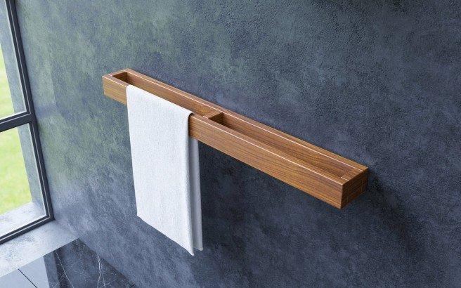 Aquatica Universal 32 Waterproof Wall Mounted Iroko Wood Towel Rack 01 (web)