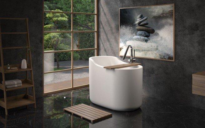 Aquatica True Ofuro Nano White Freestanding Solid Surface Bathtub01