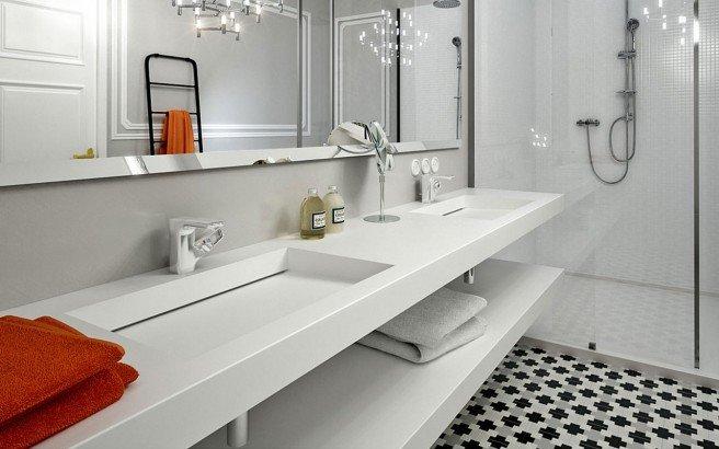Carre Flexi customizable wall mounted washbasin 04
