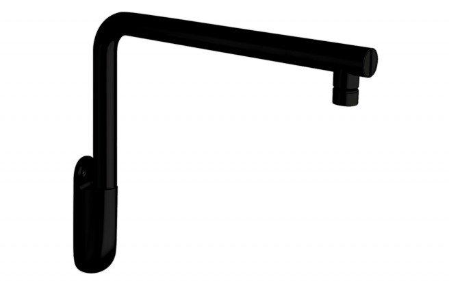 Low Wall Mounted Shower Arm Black Matte(main)