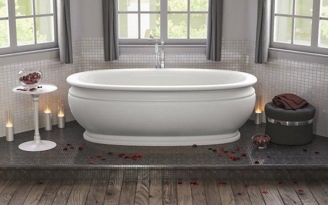 Olympian Roman Freestanding Solid Surface Bathtub 01 (web)
