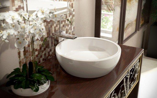 ᐈluxury Aquatica Texture Bowl Wht Round Ceramic Bathroom Vessel Sink Best Prices Aquatica