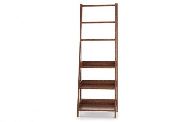 Universal Waterproof Bathroom Ladder Shelf American Walnut04web