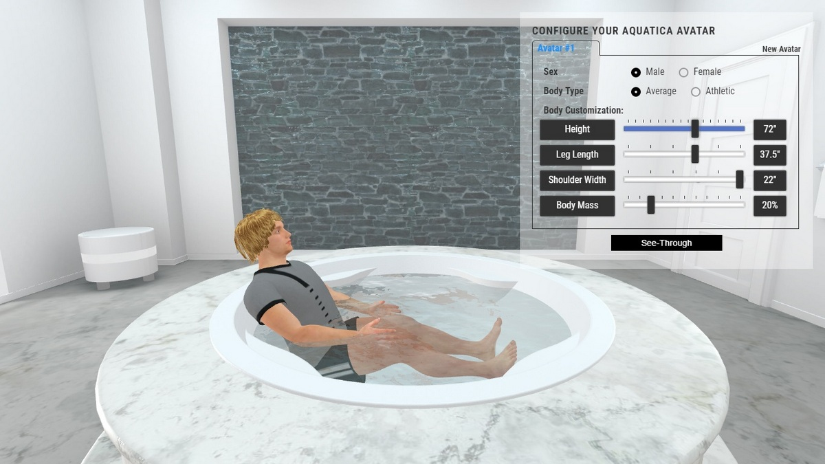 Allegra Built in Bathtub 3D Body Position