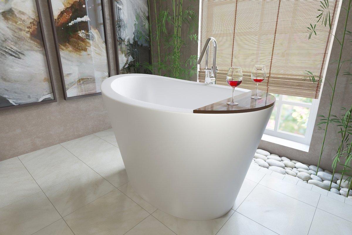 Aquatica True Ofuro Freestanding Stone Japanese Soaking Bathtub