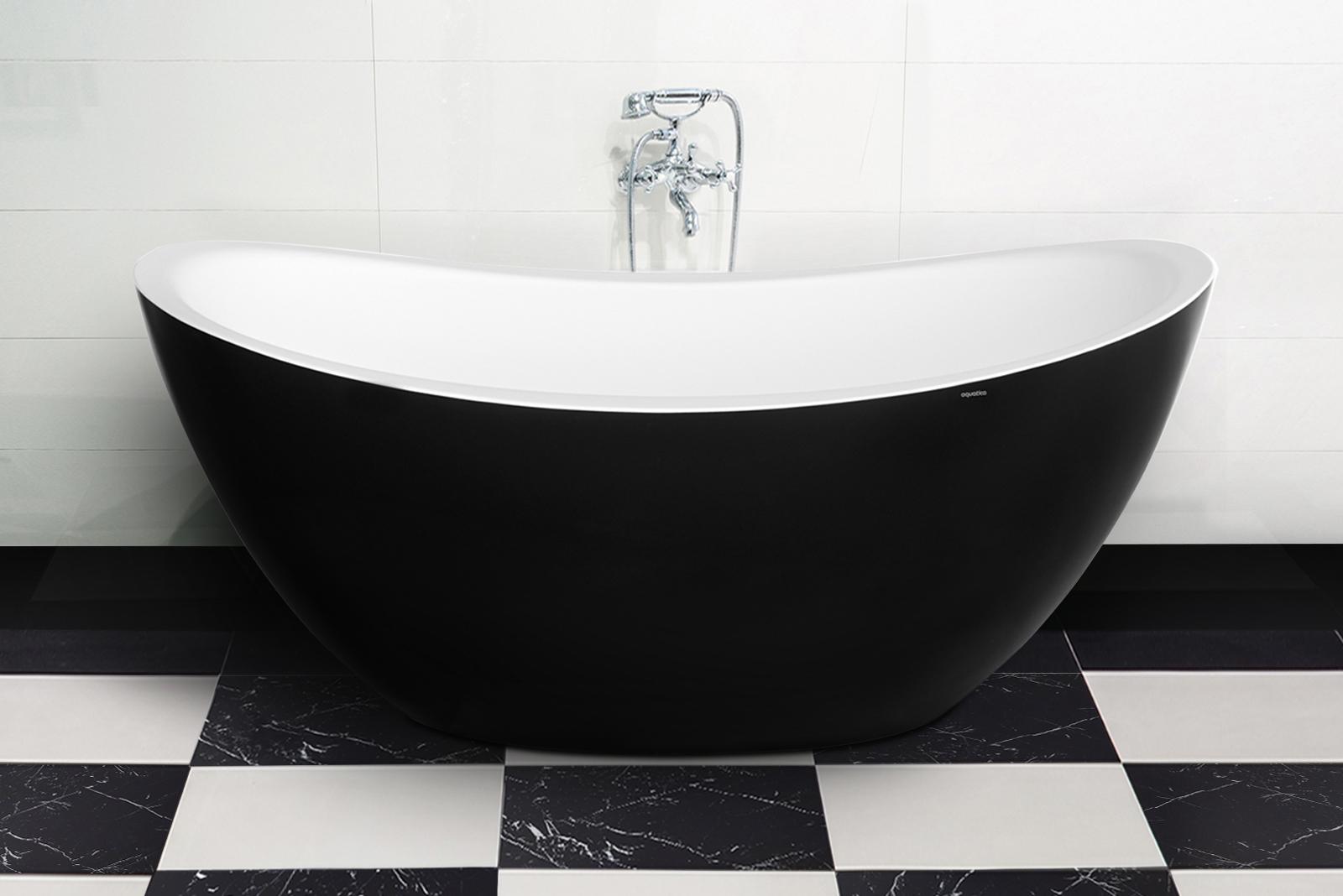 Aquatica purescape 171m blck wht freestanding solid surface bathtub customer photos 02